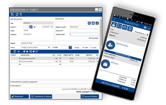 Qui Fattura - Web App - Gestione preventivi