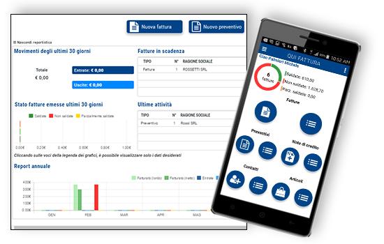 Qui Fattura - Web App - Cruscotti e reportistica