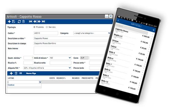 Qui Fattura - Web App - Listini articoli e categorie merceologiche